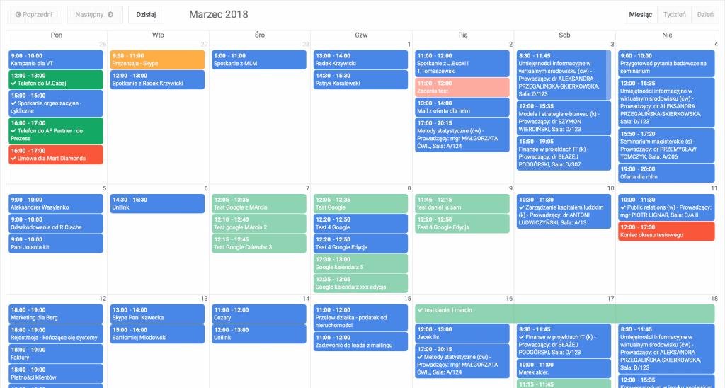crm dla fotowoltaiki kalendarz